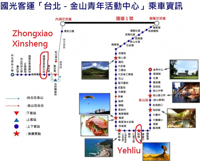 yehliu bus map