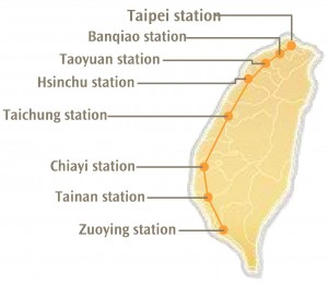 THSR Route Map